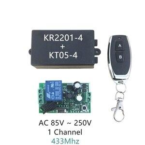 Image 2 - AC 220V 1CH RF 433MHz אלחוטי שלט רחוק מתג מודול למידה קוד ממסר