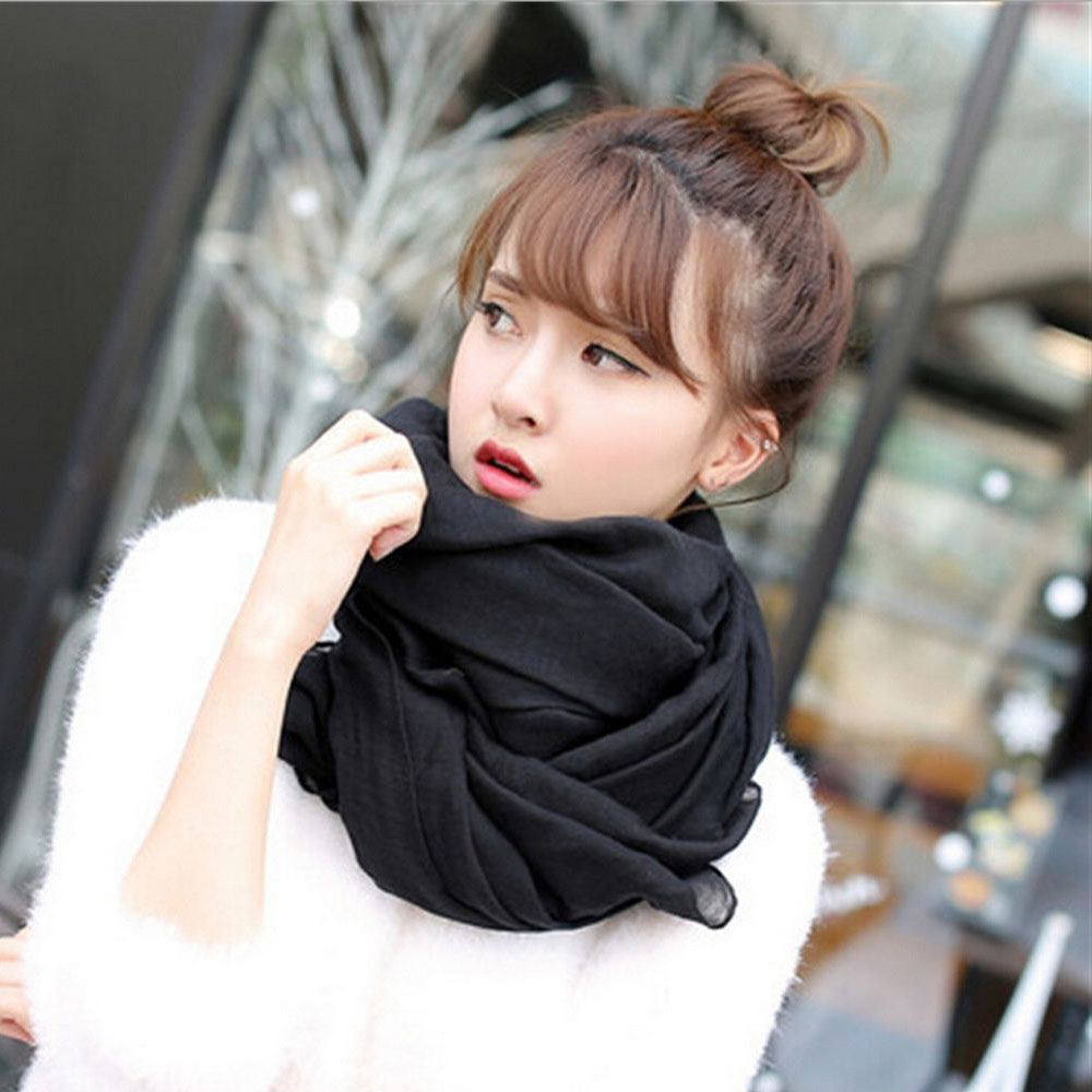 1PC Hot Sell New Fashion Candy Colors Lady Women's 180*70 cm Long Soft Cotton Scarf Wrap Shawl Scarves Accessories