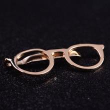 c60370f4f2c0 Formal Business Alloy Gold Glasses Shape Tie Clip for Men Suits Necktie  Clips Tie Bar Clasp