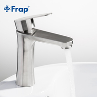 Frap new 304 stainless steel Brushed bath Basin Faucet Sink Mixer Taps Vanity Hot and Cold Water mixerBathroom Faucets F1048