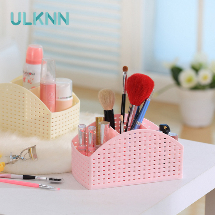 Colorful Rattan Doug Desktop Storage Box Remote Control Cosmetics Miscellaneously Classification Office Organizer