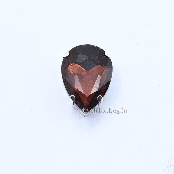 Все размеры слеза 24-Цвет стекло камень Пришить с украшением в виде кристаллов Стразы diamantes для шитья серебряной оправе в виде когтя для рукоделия Костюмы аксессуары - Цвет: mid amethyst