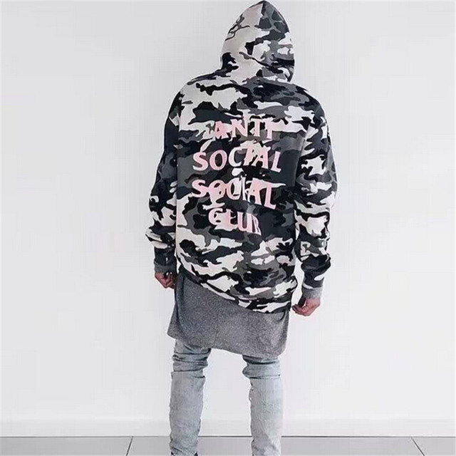 Anti Social Social Club Hoodie Men Brand Sweatshirts and Hoodies Hip hop Fleece Cotton Tracksuit Winter Warm Thick Pullover Man