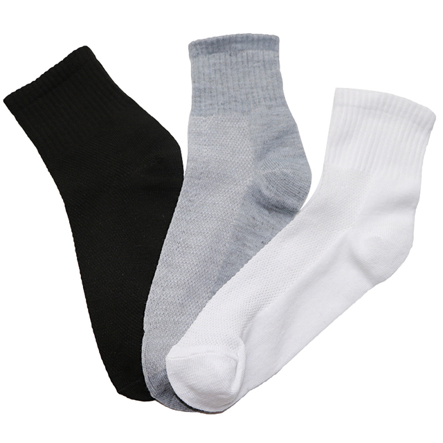 Arherigele 12pair Fashion Men's Cotton Socks Solid Color Mesh Business Casual Sock Summer Comfortable Breathable Male Short Sock