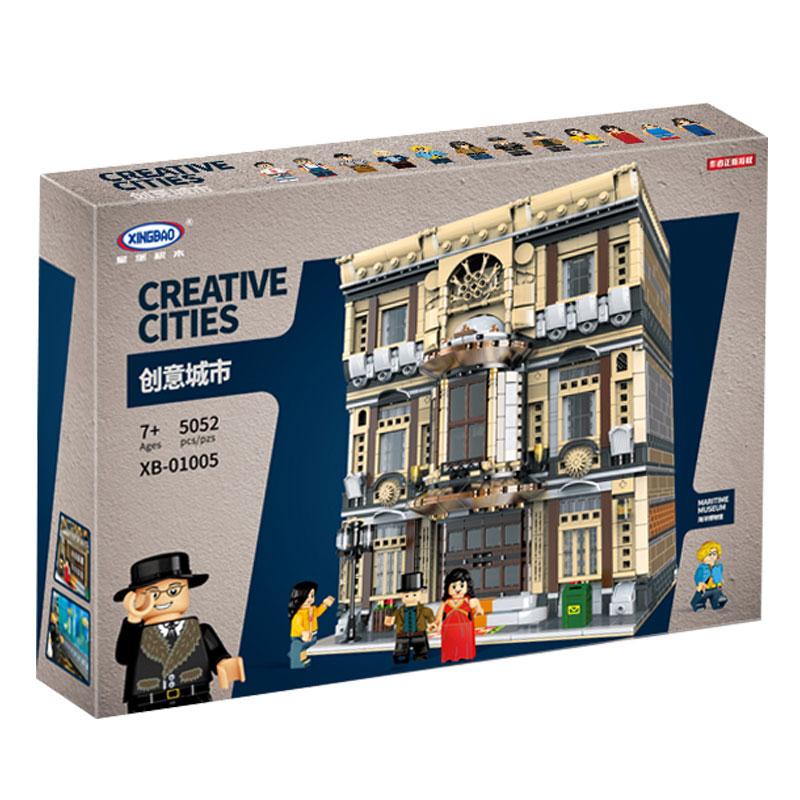 XingBao-01005-5052Pcs-Genuine-Creative-MOC-City-Series-The-Maritime-Museum-Set-Children-Building-Blocks-Bricks (2)
