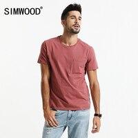 SIMWOOD 2017 Summer Short Sleeve T Shirts Me Slim Fit T Shirt 100 Cotton Plus Size