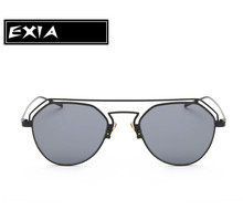Sun Glasses Women Grey UVA Lenses Metal Alloy Frame Light-weight EXIA OPTICAL KD-0760 Series