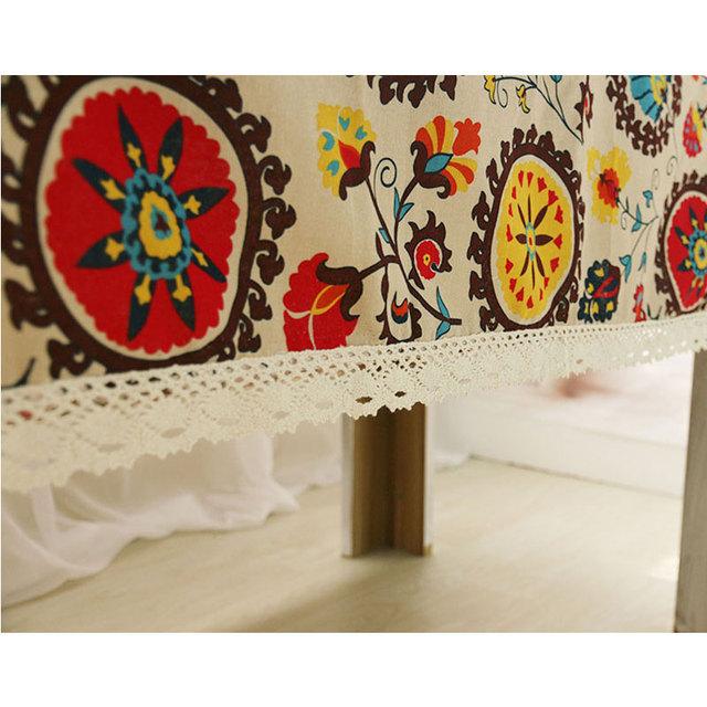 Bohemian – Decorative Tablecloth – Cotton Linen and Lace