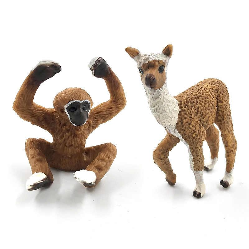 Моделирование Лес Дикий пластик Животные Рисунок Модель Альпака Warthog шимпанзе овец олень лиса Антилопа обезьяна Гиббон фигурка игрушка