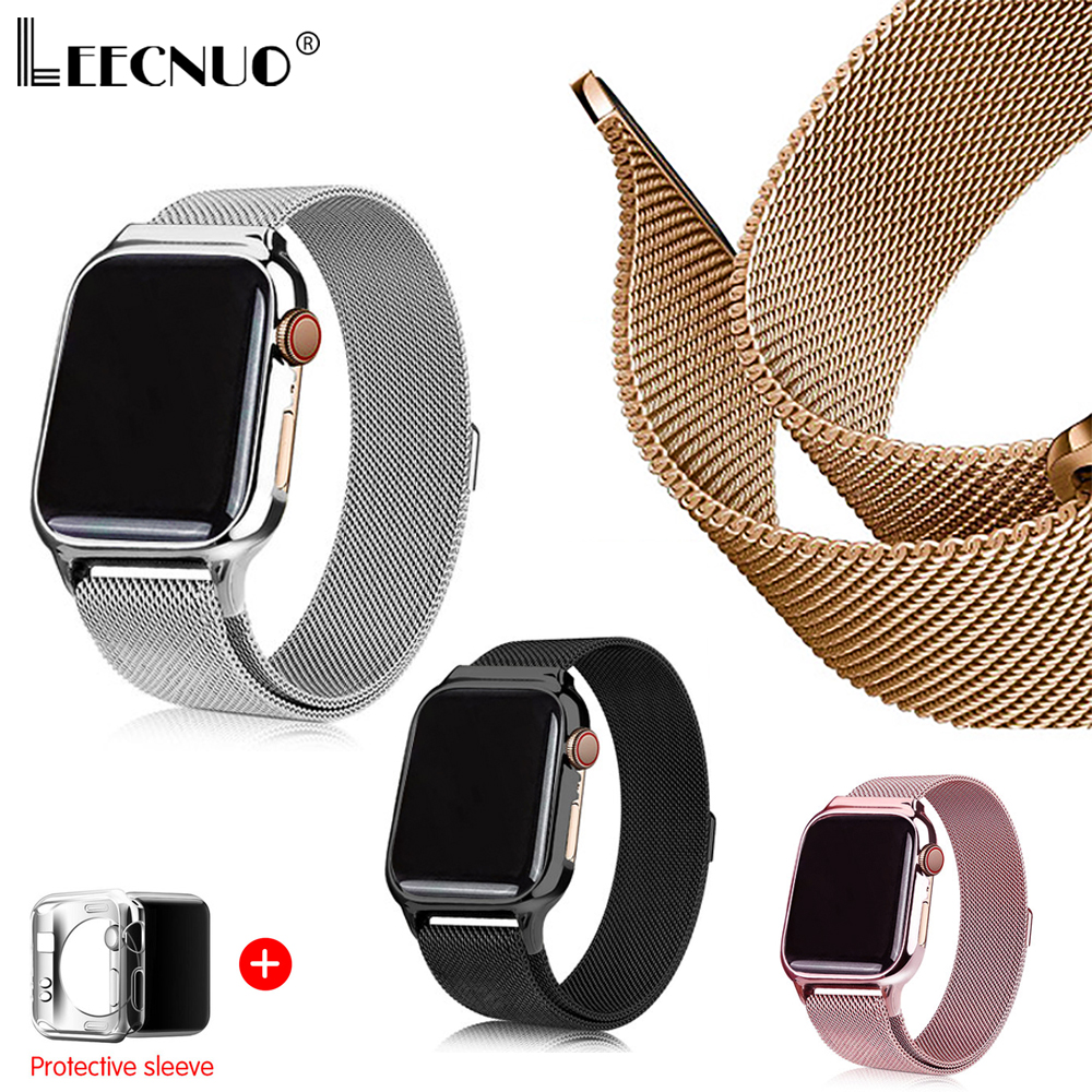 Leecnuo Watch Band Strap For Apple Watch 42MM 38MM Milanese Loop Bracelet Watch Strap For IWatch Series 1/2/3 Watchband