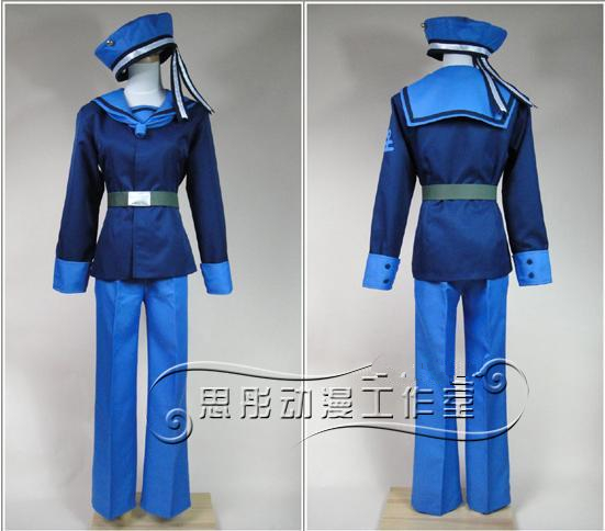 APH Axis Powers Hetalia Norway Navy Cosplay Costume set
