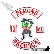DEMONS PACIFICA COWBOY WITH GUN MOTORCYCLE CLUB IRON ON WEST PATCH