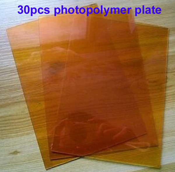 Free Shipping CHEAP 30pcs 20cmx30cm Yellow color Photopolymer Plate Stamp Making DIY Letterpress Polymer Stamp Maker