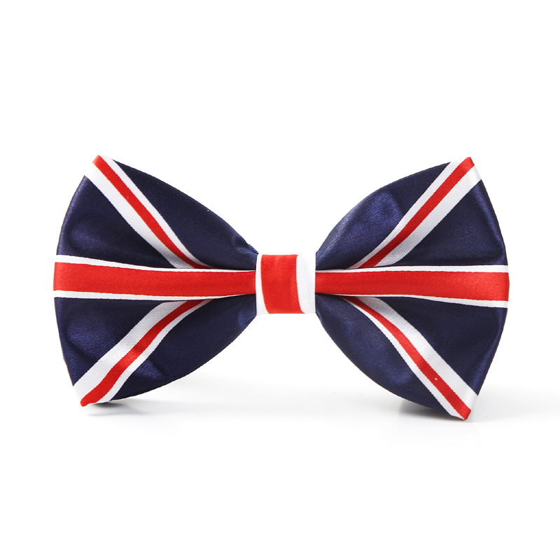 "Free shipping Bow tie for Men Fashion ""England Flag"" #2 pattern Men's Unisex Tuxedo Dress Shiny Party ties/Butterfly Brand New"