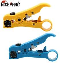 NICEYARD многофункциональные электрические инструменты для зачистки UTP/STP RG59 RG6 RG7 RG11 резак Стрипер кабель провода плоскогубцы