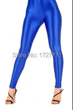 (LS62)Shiny Lycra Spandex Opaque Tights Unisex original Fetish Zentai Leggings Pants