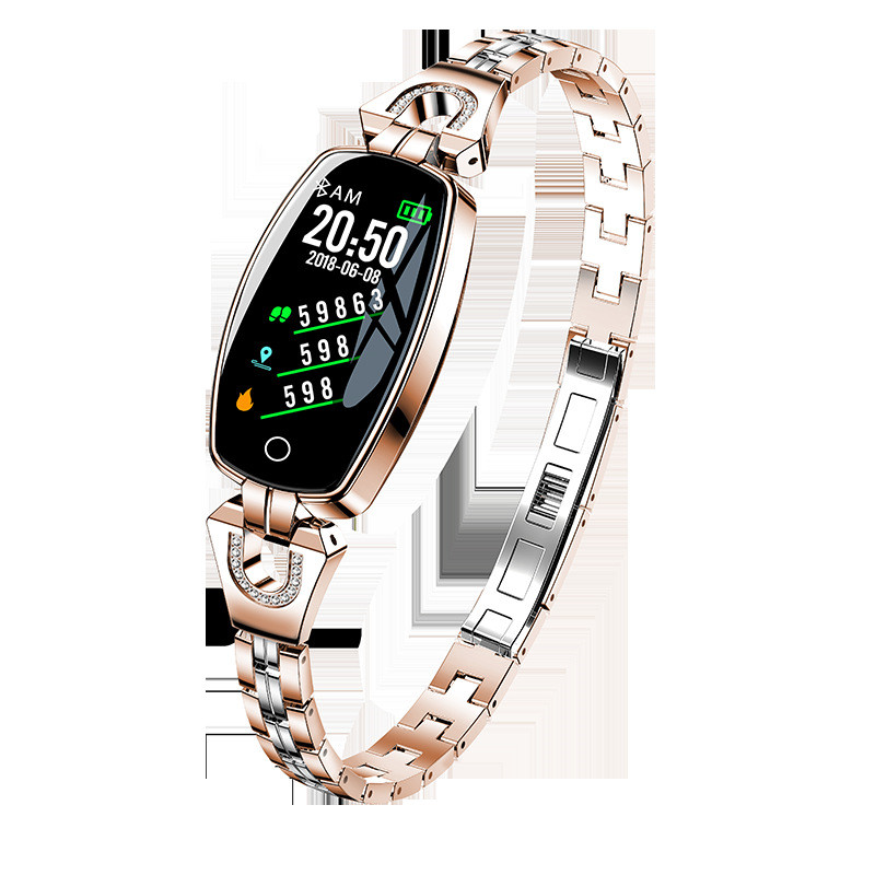 H8 HR Smartwatch Women Lady Smart Watch Bracelet Fashion Wear Stainless Steel Strap Jewel for Android IOS xiaomi 11.9