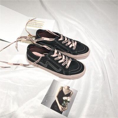 Petit Printemps Cuir Nouveau Chaussures 2018 Femelle Casual Toile Style 2 En Étudiant Ulzzang Harajuku 1 Sauvage Blanc qKzSfK
