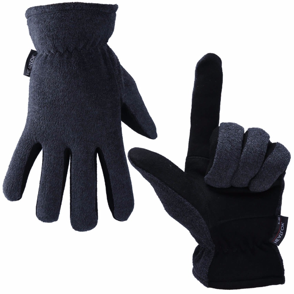 Ozero Genuine Deerskin Ski Gloves  Sports Warm Windproof Anti Cold And Fleece Winter Sports Gloves For Men And Women 8007