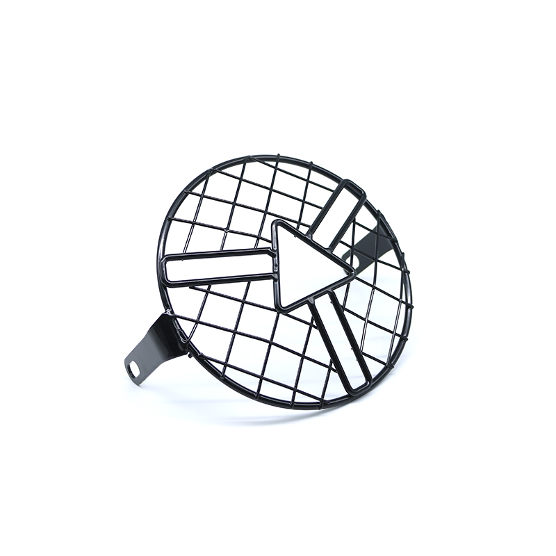 Universal Motorcycle Headlight Metal Grill Mask Protector Guard Side Mount Cover For Harley Honda Yamaha Suzuki Kawasaki Touring