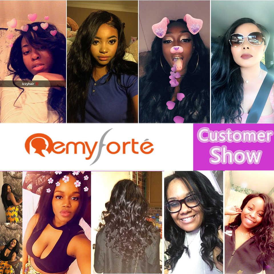 Remy Forte 100% extensión de cabello humano 8 a 28 pulgadas onda del cuerpo tejido de cabello humano indio crudo 4 paquetes indio paquetes de pelo ondulado