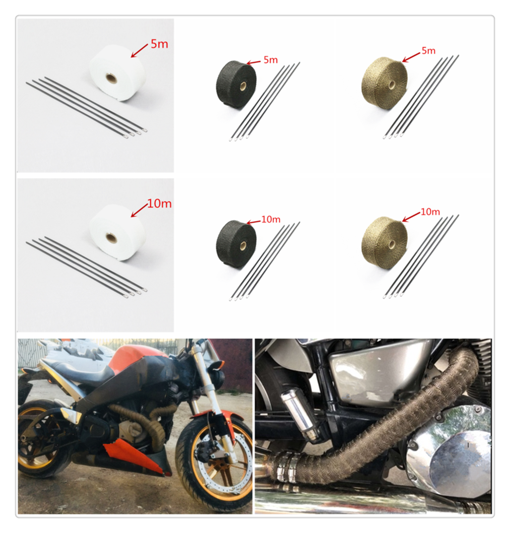 Motorcycle roll fire insulation cloth hot air <font><b>exhaust</b></font> heat protection cover belt for <font><b>SUZUKI</b></font> <font><b>GSR600</b></font> GSR750 GSX-S750 GSXR1000 image