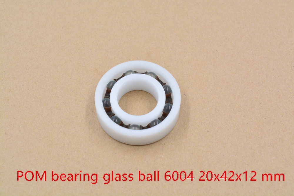 POM plastic 20mmx42mmx12mm nylon bearing 20mm bearing glass ball water proof acid and alkali resistant single seal 6004 1pcs