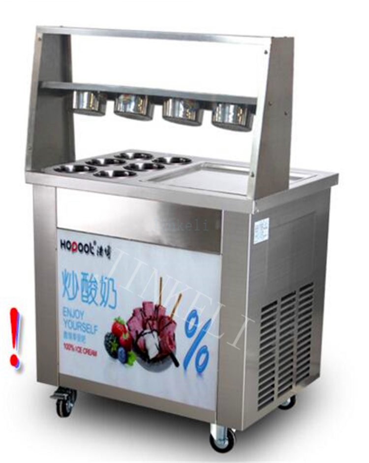 2017 220V 110V R410 Single square Pan Fried Ice Cream Roll Machine,Commercial Fried Milk Yogurt Machine, Ice Cream Maker 2017 big square pan 75 35cm fried ice cream roll machine fried ice cream machine fried ice machine for commercial use