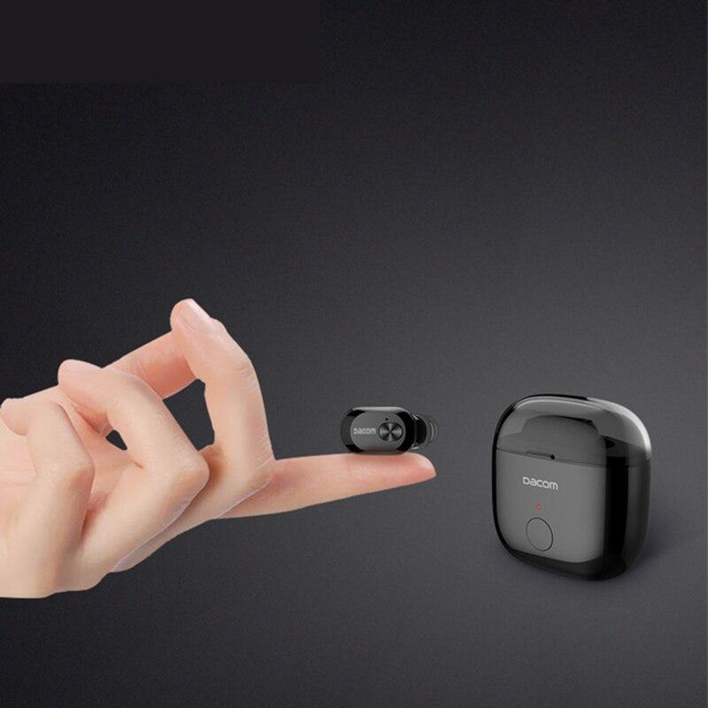 Hongsund K6P Mini Earphone In-ear Wireless business bluetooth Earbuds Mono Earpiece Two Layer Eartips Ear Phones with Charge box