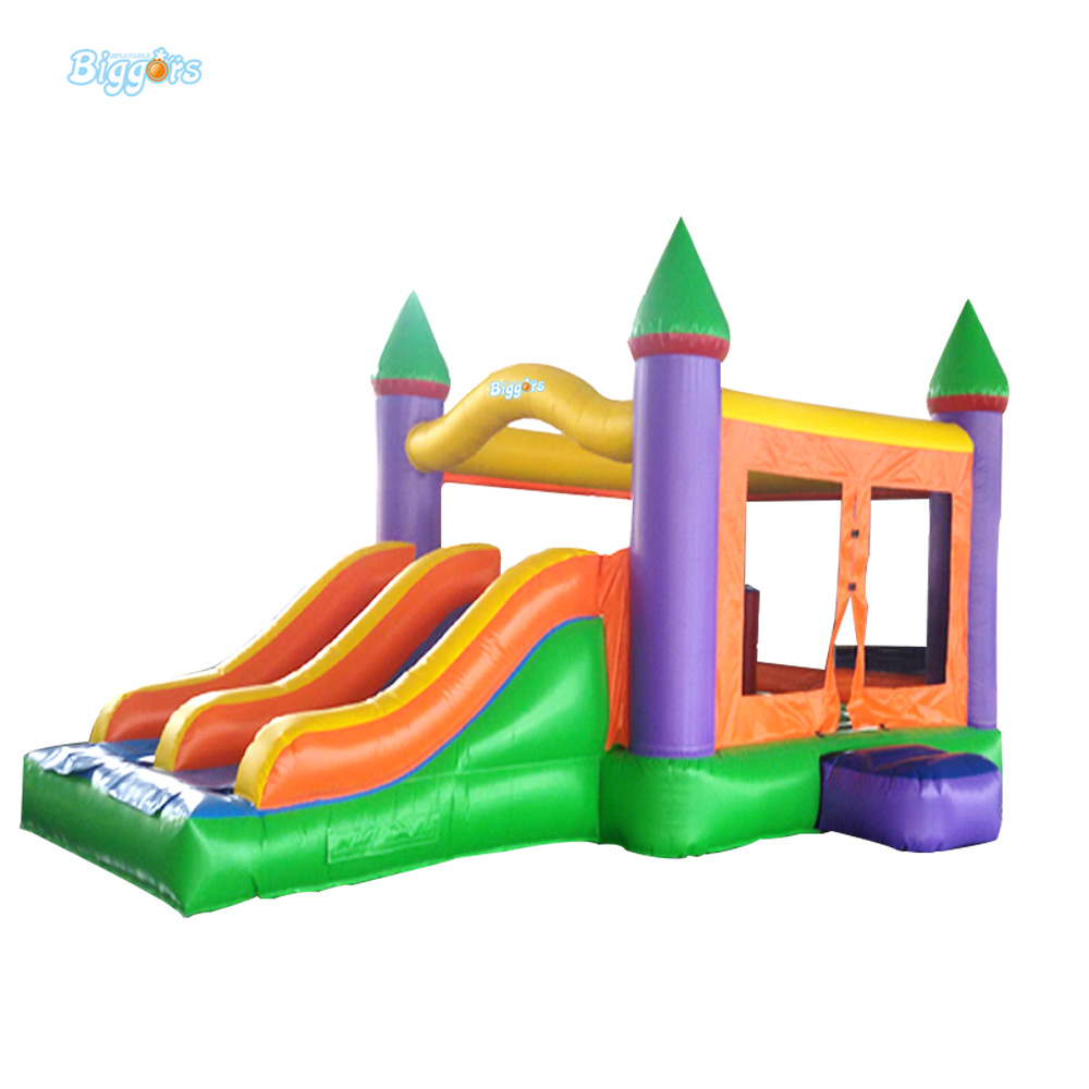 Double Lane Inflatable Bouncy Castle Slide Combo Inflatable Bounce House Slide hot sale factory price pvc giant outdoor water inflatable slide bounce house bouncy slide