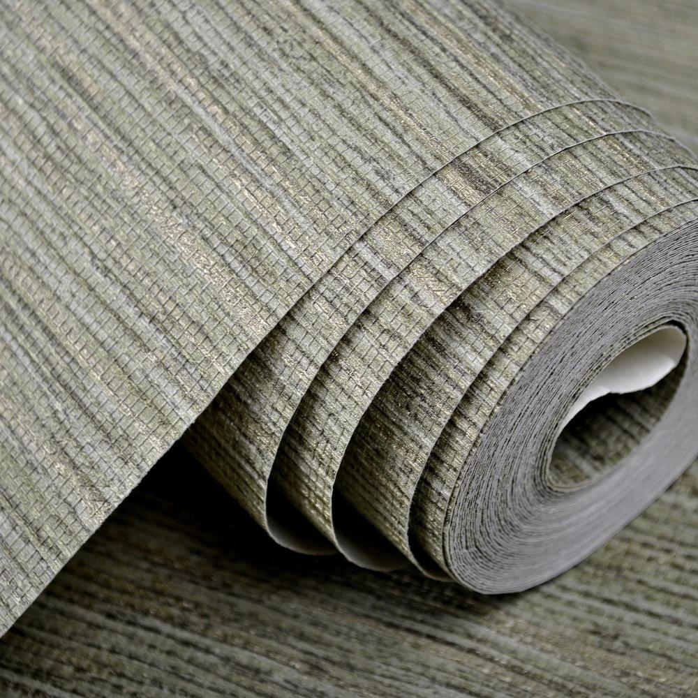 Modern Plain Rustic Textured Wallpaper Horizontal Faux Grasscloth
