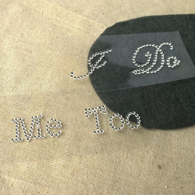1 Takım Ben Beni Çok Gelin Damat Ayakkabı Sticker Yapmak Beyaz Şeffaf Rhinestone Düğün Ayakkabı Dekor