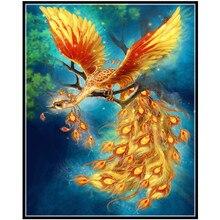 5d DIY Diamond Painting Beautiful phoenix Full Square Drill Mosaic Cross Stitch Embroidery home Decor Y2960