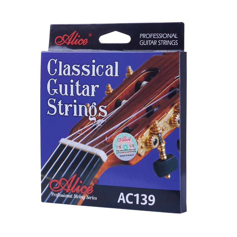 Alice Classical Guitar Strings Titanium Nylon Silver-plated 85/15 Bronze Wound A'C 3 sets alice aw466 light acoustic guitar strings plated high carbon steel