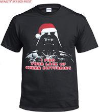 XMAS Mens Funny T-Shirt/Starwars The Force Awakens VII Popu/Gift/Christmas/Top Free shipping  Harajuku Tops Fashion Classic