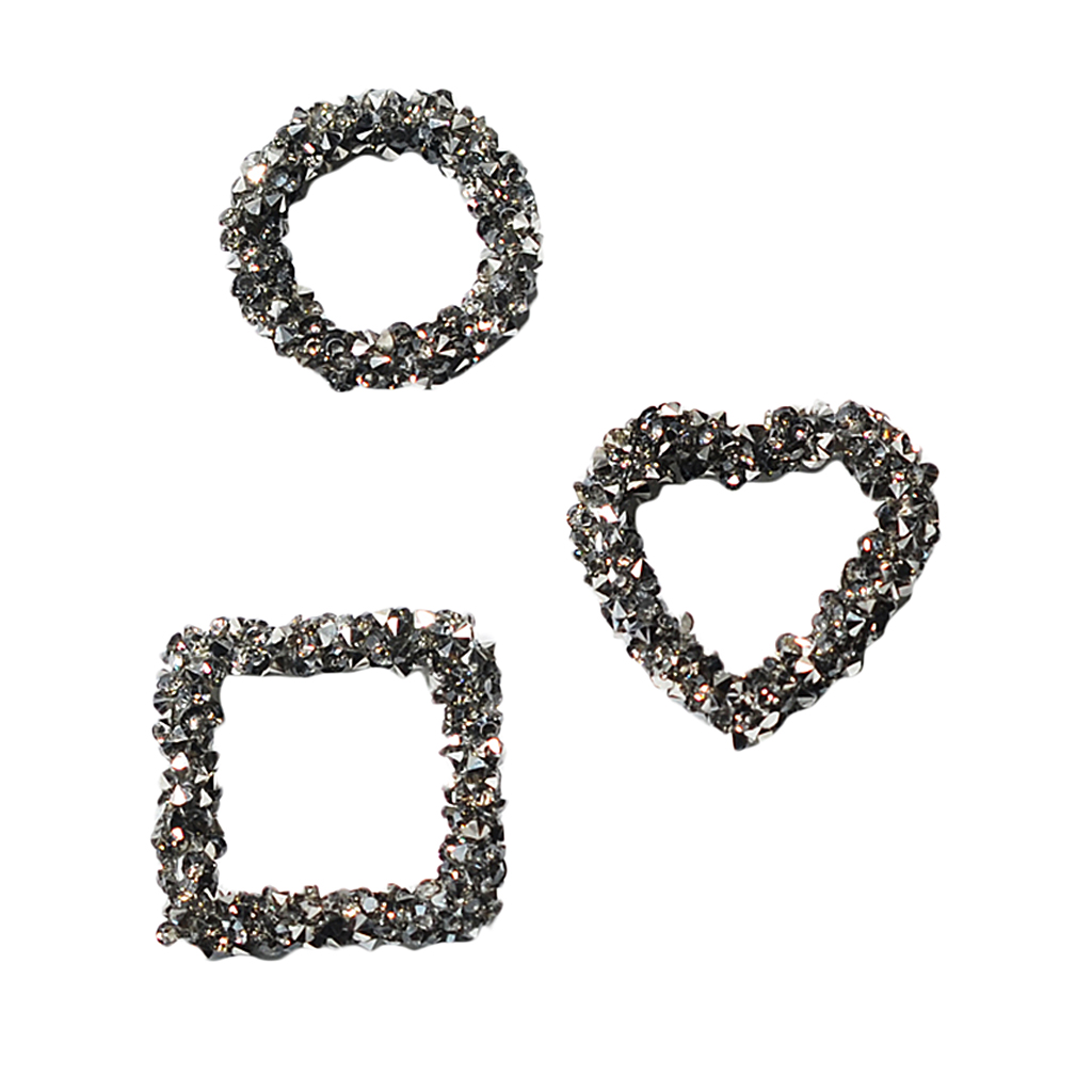 3 DIY Accessories Earring Rhinestone Pendants Charms Jewelry Making Findings