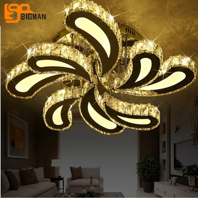 Nieuwe ontwerp Led Kristal Plafond Verlichting Voor Woonkamer lustre ...
