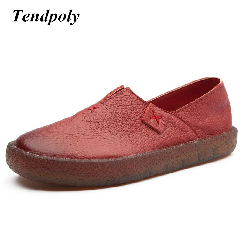 New national style fashion shoes spring and autumn retro genuine leather women's singles shoes selling casual leisure flat shoes z suo men s shoes the new spring and autumn ankle leather casual shoes fashion retro rubber sole lace mens shoes zsgty16066