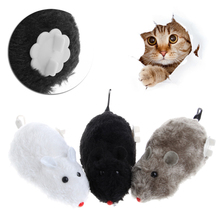 1PC Clockwork Wind Funny Running Mouse Rat Move Tail Cat Kitten Prank Toy Gift