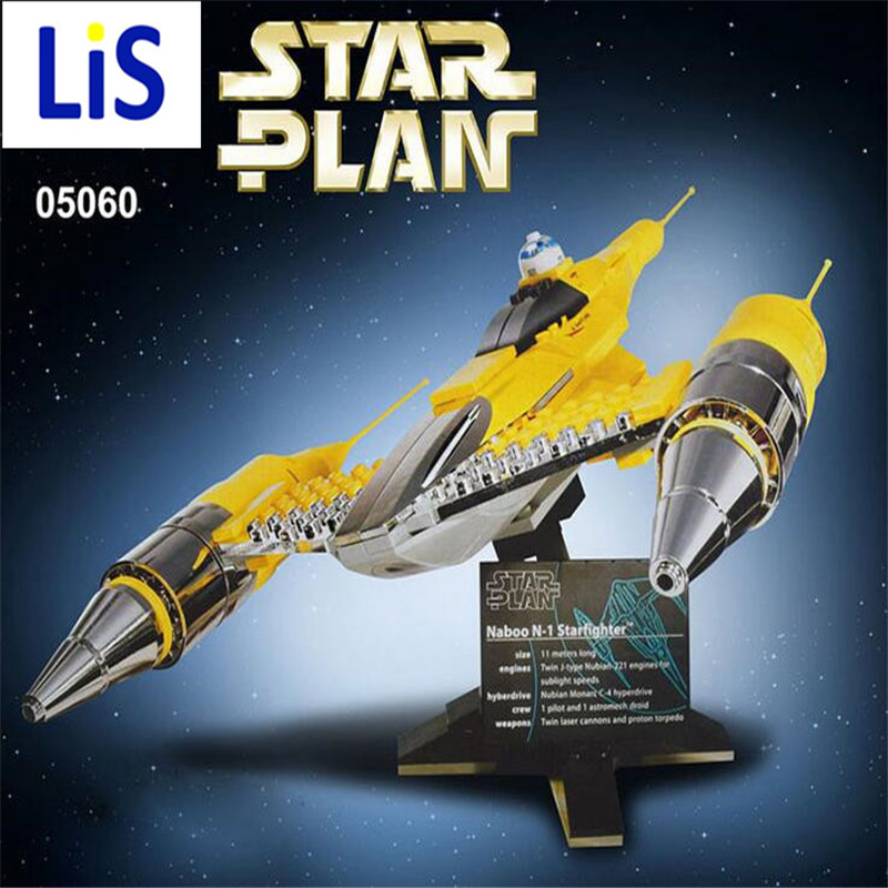 Lis LEPIN 05060 187Pcs Star Wars UCS naboo star type fighter aircraft Model Building Kit Blocks Bricks Compatible 10026 Toys x smart science promiscuity avenue to venereal diseases