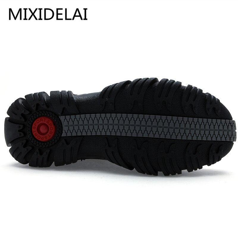 MIXIDELAI Super Chaud Hiver Hommes Bottes bottes en cuir véritable Hommes Chaussures D'hiver Hommes Militaire bottes en fourrure Pour chaussures pour hommes Zapatos Hombre - 4