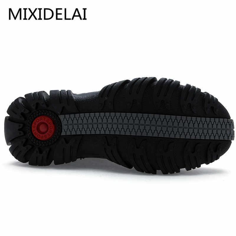 d66862fd481a ... MIXIDELAI очень теплые зимние мужские ботинки из натуральной кожи,  Мужская зимняя обувь, мужские ...
