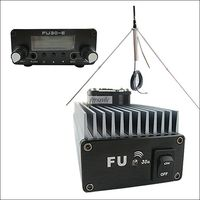 10 unidades de 30 W Profesional de FM transmisor amplificador FU-30A + gp antena + fuente de alimentación al por mayor KIT