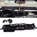 Black Inner Dashboard Dash Mat Sun Cover Pad Visor DashMat fit for Toyota RAV4 XA40 2014 2015 2016 left hand drive