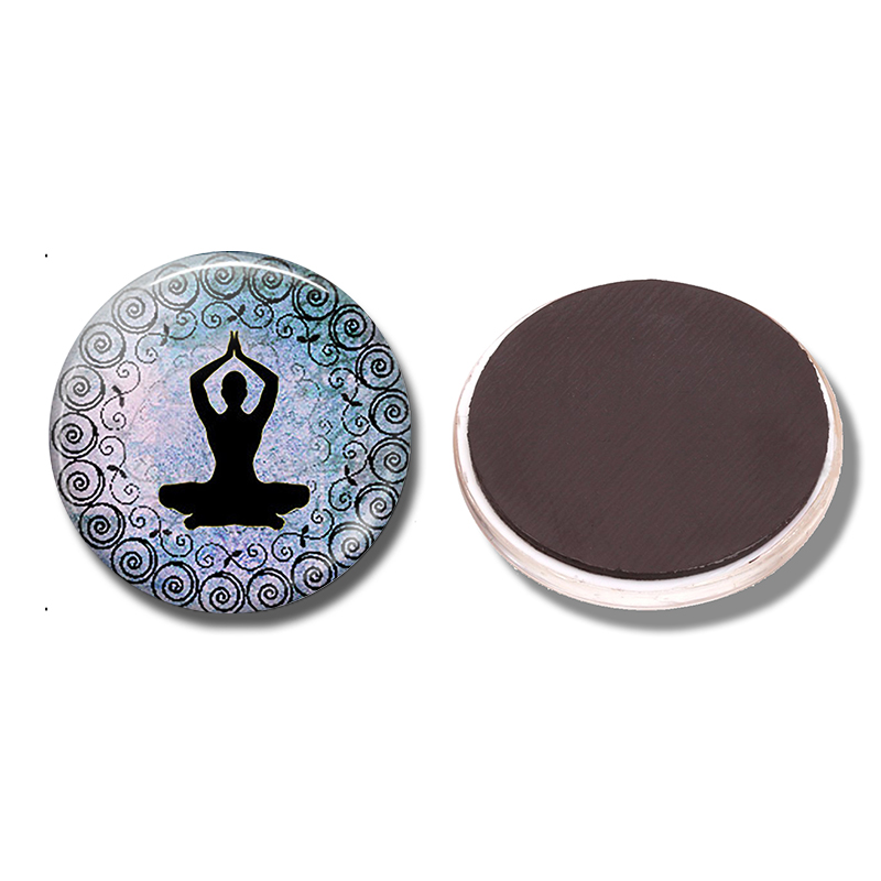 ✔  Лаванда синий йога 30 мм магнит на холодильник йога любовник подарок стекло кабошон магнитный холоди ★