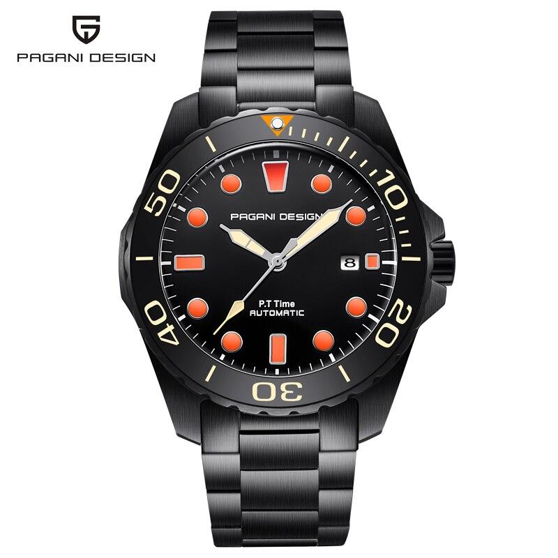 Pagani mécanique automatique hommes montres Sport Top marque mode militaire montre hommes acier plongeur mâle montre-bracelet Relogio Masculino