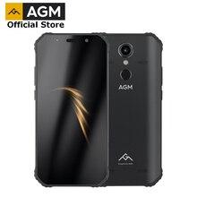 """(هدية مجانية) مسؤول AGM A9 5.99 """"FHD + 4G + 64G الروبوت 8.1 الهاتف الذكي 5400mAh بطارية IP68 للماء رباعية مربع المتحدثون NFC وتغ"""