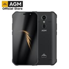 "(Ücretsiz Hediye) RESMI AGM A9 5.99 ""FHD + 4G + 64G Android 8.1 Smartphone 5400mAh Pil IP68 Su Geçirmez dört Kutusu Hoparlörler NFC OTG"