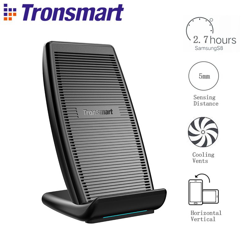 Tronsmart WC05 Quick Wireless Charger Power Bank Battery Charger with Vents for iPhone X/8 Plus,Galaxy S8, Note 8,Qi-EnabledTronsmart WC05 Quick Wireless Charger Power Bank Battery Charger with Vents for iPhone X/8 Plus,Galaxy S8, Note 8,Qi-Enabled