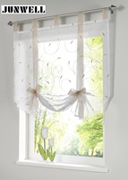 5 Colors Ribbon Roman Curtain Blind Home Wave European Living Room Balcony Voile Panel 1PC